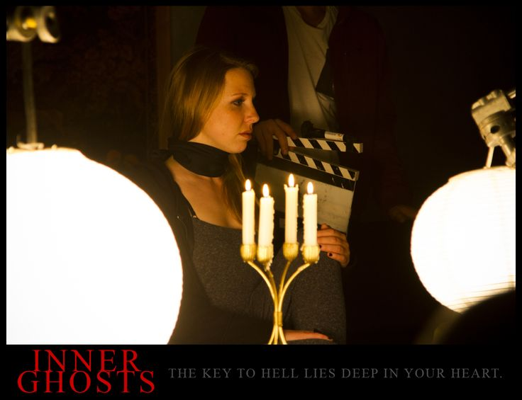 The talented and gorgeous actress Elizabeth Bochmann on the set of INNER GHOSTS. #innerghosts #horror
