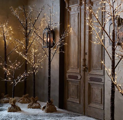 1000 Images About Twig Christmas Trees With Lights On