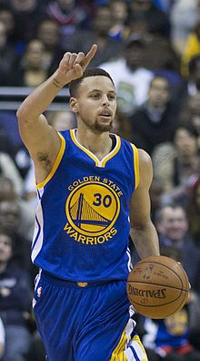"Wardell Stephen ""Steph"" Curry II (born March 14, 1988) is an American professional basketball player for the Golden State Warriors of the National Basketball Association (NBA). He is considered by some to be the greatest shooter in NBA history. Curry won the 2015 NBA Most Valuable Player (MVP) award and is a three-time NBA All-Star. He also holds the NBA record for most consecutive games with a made three-pointer (with 133)."