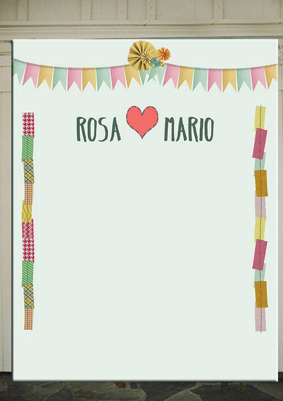 Photocall boda para crafty lovers!!!#backdrop #photobooth #photocall