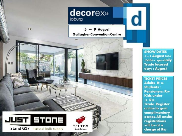 Decorex jhb 2016 Just Stone. See you there