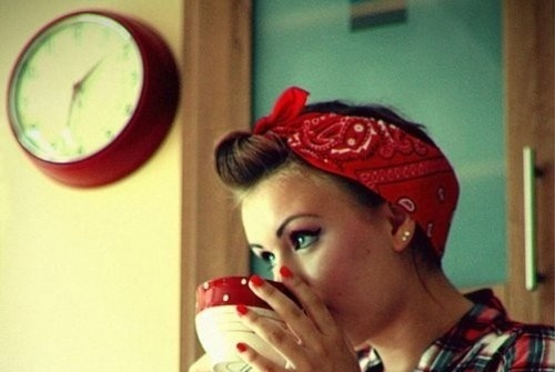 Retro Rockabilly Bandana Hair Tutorial - Susie Brown