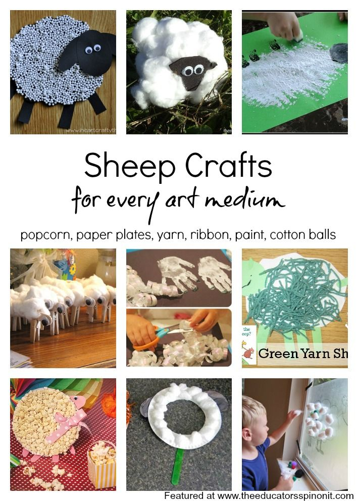 A collection of sheep crafts for kids with every art medium! Great for year of the sheep crafts.