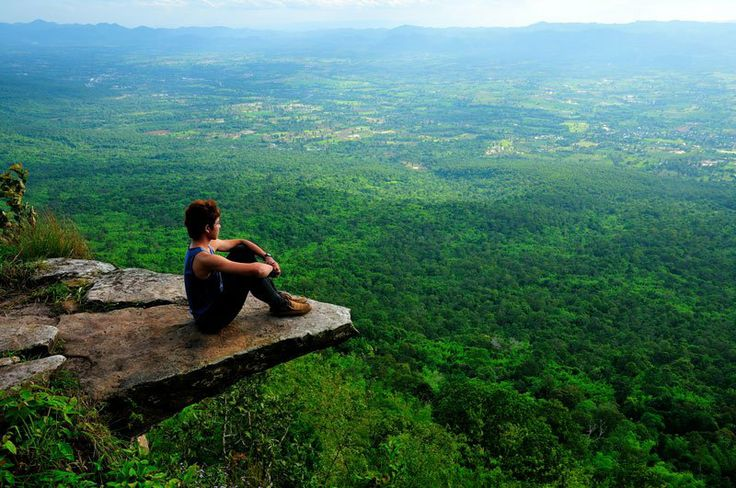 A Place to Ponder A beautiful outlook point at Sai-Thong National Park in Chaiyaphum province, Thailand.