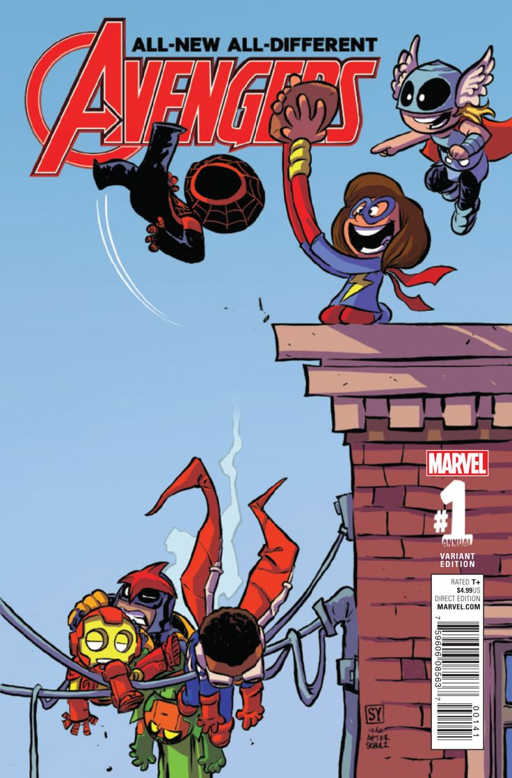 All-New All Different Avengers Annual #1 variant cover by Skottie Young *