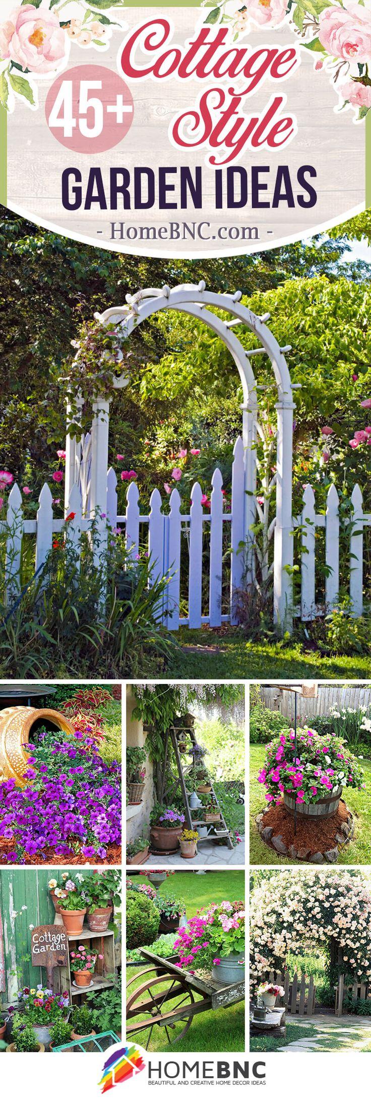 Cottage Style Garden Ideas #yard #landscaping #cottagestyle