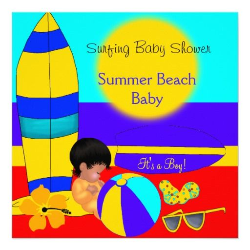Summer Baby Shower Boy Beach Baby Surfing Baby