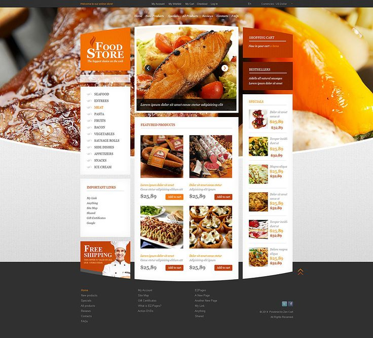 Food Store #ZenCart #Responsive Template via @medosadvert by @templatemonster #52462