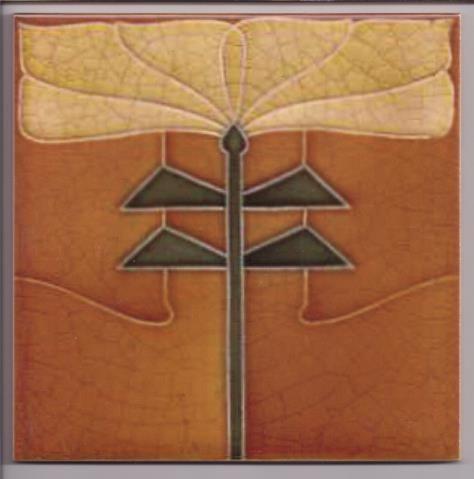 Unusual Stylised Art Nouveau / Arts & Crafts Tile ref 015