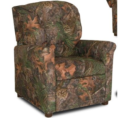 Dozy Dotes 4 Button Camo Kids Recliner Color: Camouflage Green with True Timber