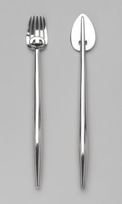 Fish Knife and Fork (c. 1900) | Silver-plated nickel | Charles Rennie Mackintosh (Scottish, 1868–1928)