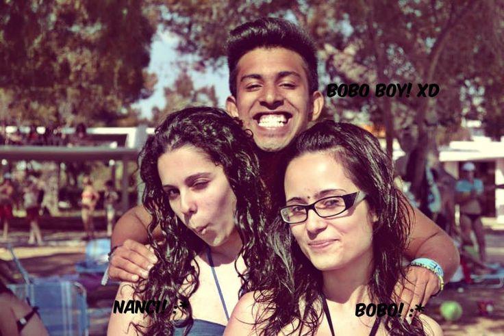 In Kabouri! with mah girls :D