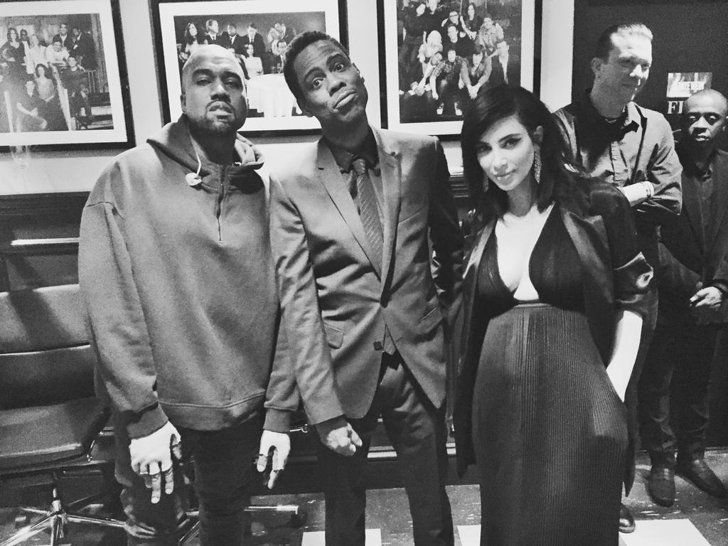 Pin for Later: The Best Behind-the-Scenes Pictures of SNL's 40th Anniversary Special  Chris Rock, Kanye West, and Kim Kardashian hung out backstage.