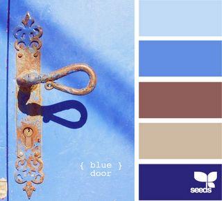{blue door}