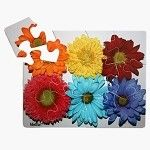 """The MindStart Flower puzzle has 12 large pieces and an image designed to be less detailed and adult-oriented. Puzzle is 8"""" X 10"""" when complete.(12 piece puzzle $12.99) #MindStartActivities #AlzActivity#DementiaChallenger"""