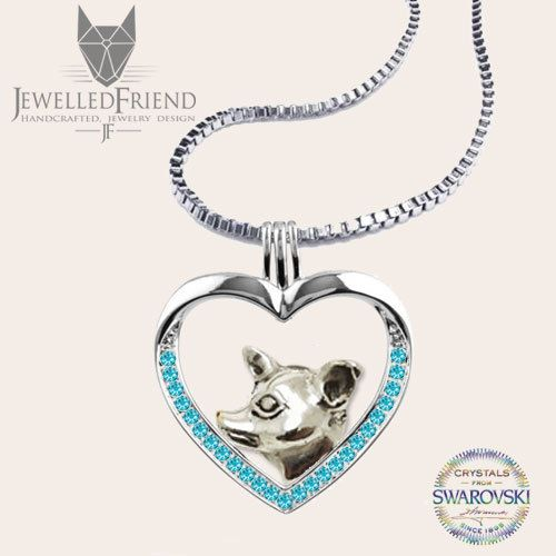 Chihuahua jewelry necklace pendant with swarovski crystal -Sterling Silver-Personalized Pet Necklace-Dog lover gift-Custom Dog Necklace by jewelledfriend. Explore more products on http://jewelledfriend.etsy.com
