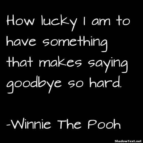 Lucky Its Hard to Say Goodbye... - Quote Generator QuotesAndSayings