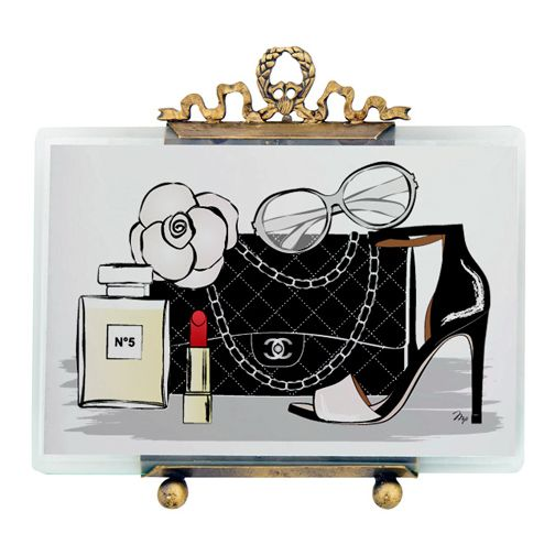 chanel accessories illustration