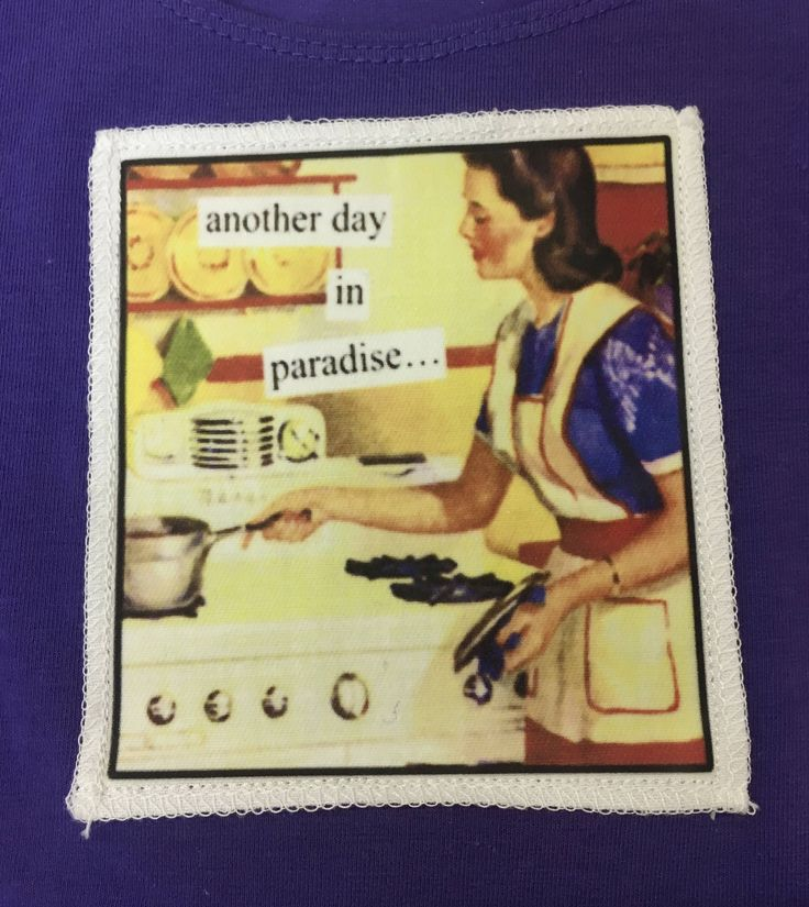 Vintage Print Tank Top - Another day in paradise....! by Curlytees on Etsy