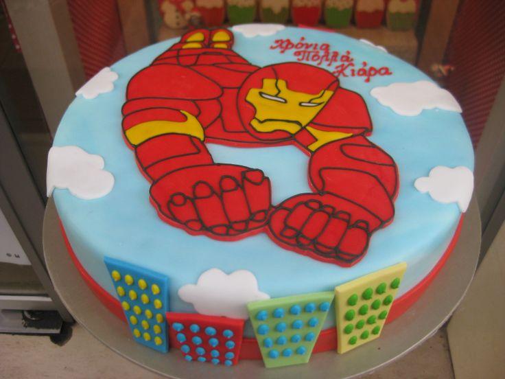 Τούρτες Γενεθλίων - Iron Man! #sugarela #TourtesGenethlion #IronMan #BirthdayCakes