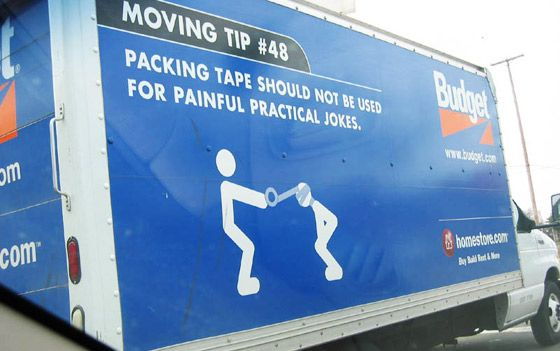 """Budget moving pic - Good use of """"packaging"""""""