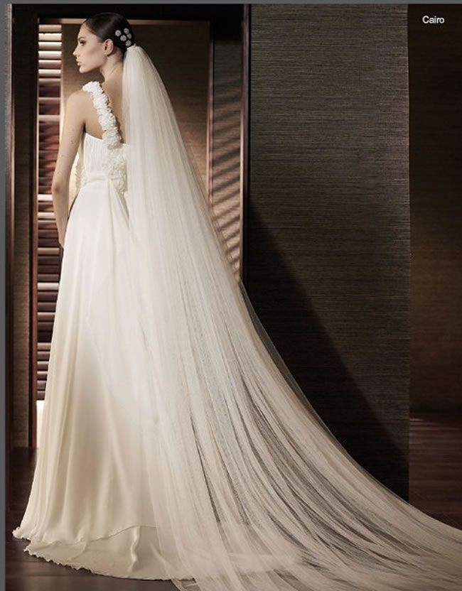 78 Best Ideas About Long Wedding Veils On Pinterest