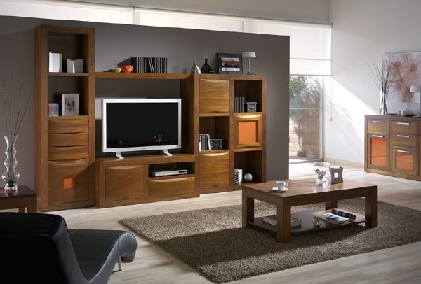 Colecci n de muebles neila madera maciza todo a medida for Muebles tv madrid