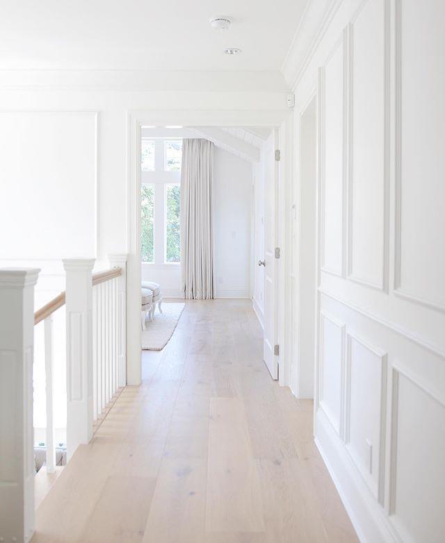Millwork, simply white Benjamin Moore , hardwood Floors