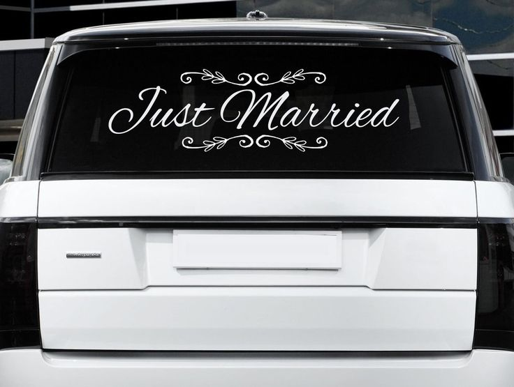 Best Wedding Car Decor Images On Pinterest Car Wedding Car - Cool car decals designpersonalized whole car stickersenglish automotive garlandtc