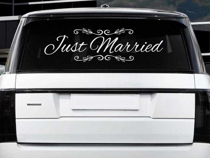 Best Wedding Car Decor Images On Pinterest Car Wedding Car - Cool car decals designpersonalized whole car stickersenglish automotive garlandtc