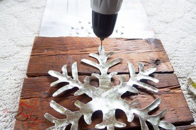 DIY-Wood Block Metal Snowflake - Holiday Decor- Wall Decor-Ryobi Drill
