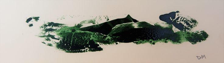 Drager Meurtant - Untitled (Pyrenean landscape 1983)  monoprint 27x7 cm, 2016, www.meurtant.exto.org