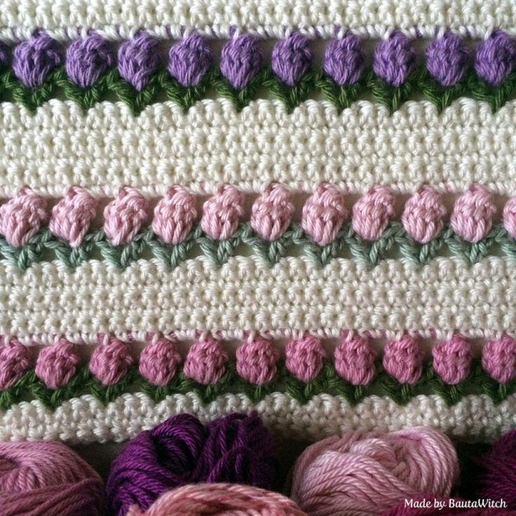 Crochet Pattern For Tulip Afghan : DIY - Tulips in snow Crochet Pinterest Snow ...