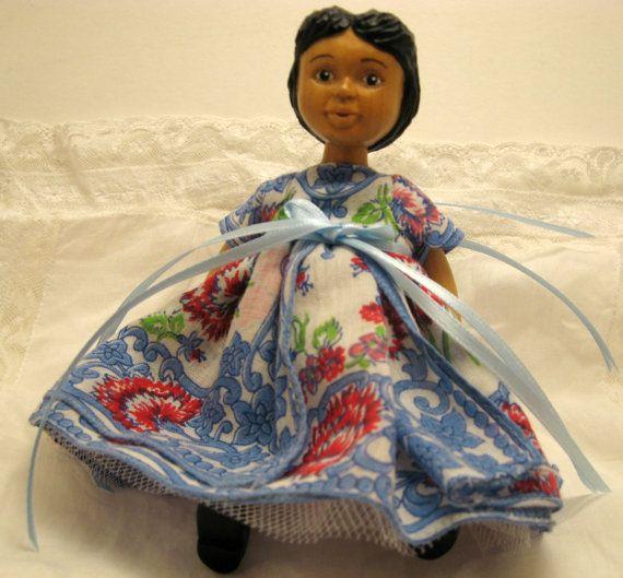 SALE 20% OFF Custom OOAK #Hitty Vintage Hanky Dress by reikidolls