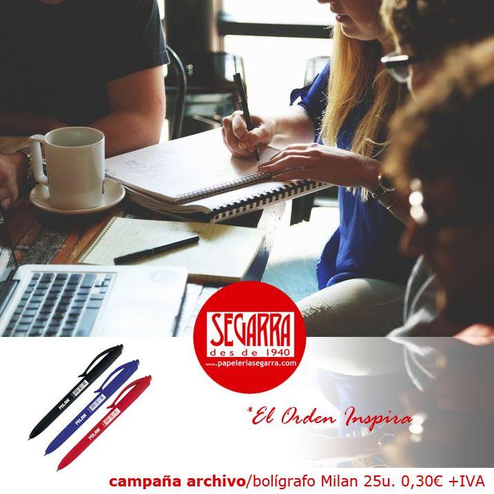 bolígrafos colores Milan material de oficina http://papeleria-segarra.blogspot.com.es/2016/01/archivo-el-orden-inspira.html