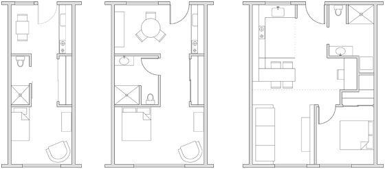 500 sq ft studio apartment initial schematic design - 500 square feet apartment floor plan ...