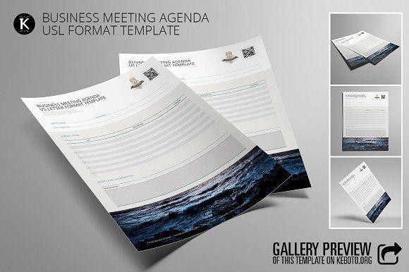 Business Meeting Agenda USL by Keboto on @creativemarket