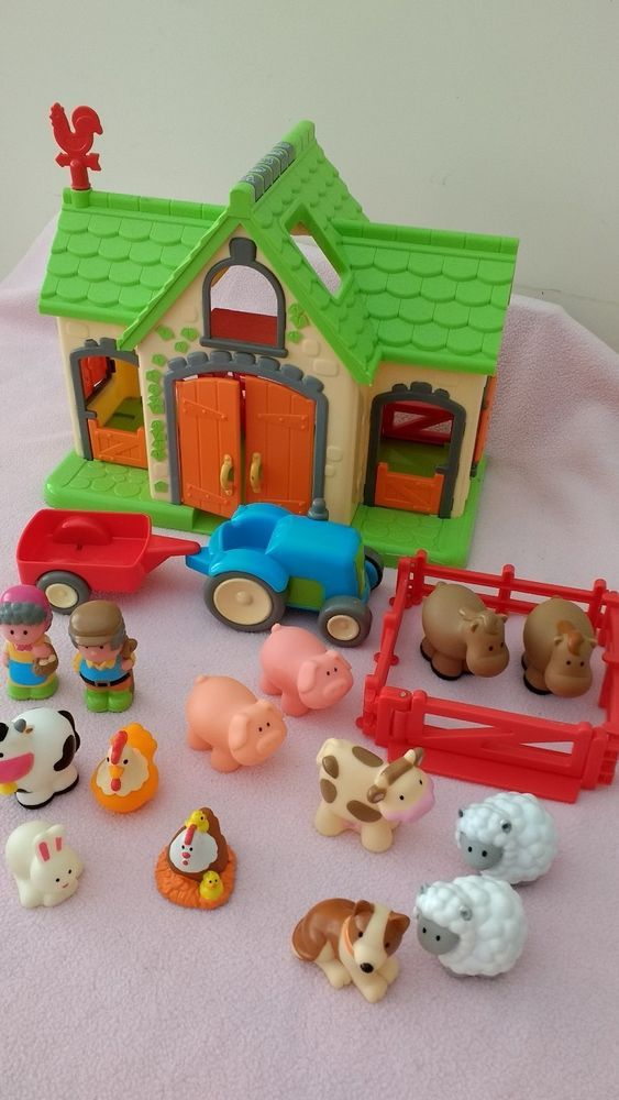 Early Learning Centre Happyland Farm playset    Slight signs of wear from play, otherwise in very good condition.  Press buttons for farm sounds.  From smoke & pet free home.  I will combine postage. | eBay!