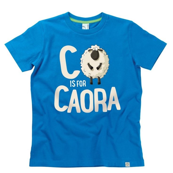 C is for Caora Kids Alphabet T-Shirt by Hairy Baby