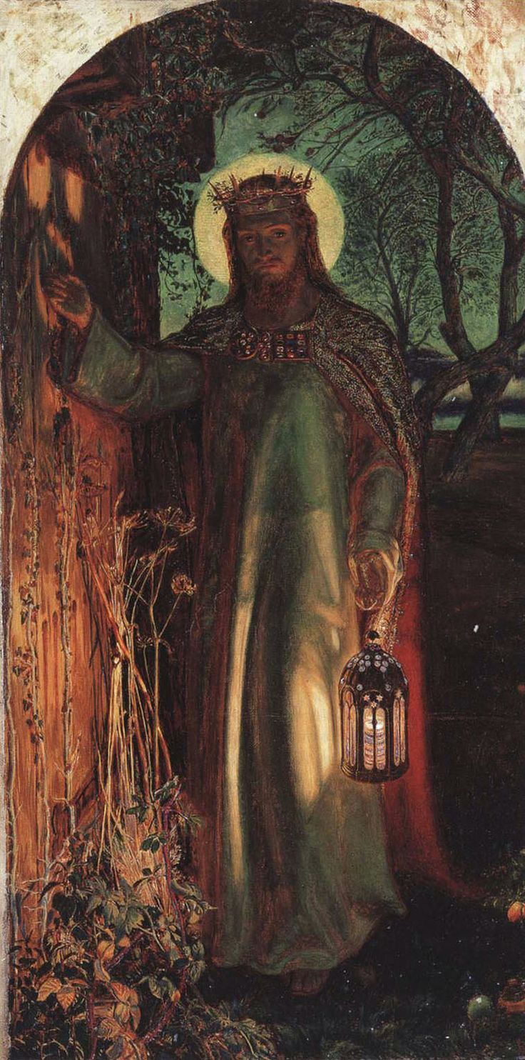 william Holman-Hunt, Light of the World.jpg I fell in love with this image at @brownies in the village, as a small child.