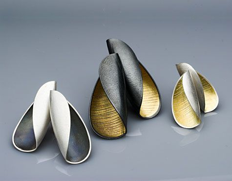 Jane Adam. Silver & gold bimetal eartstuds. Prices from £180