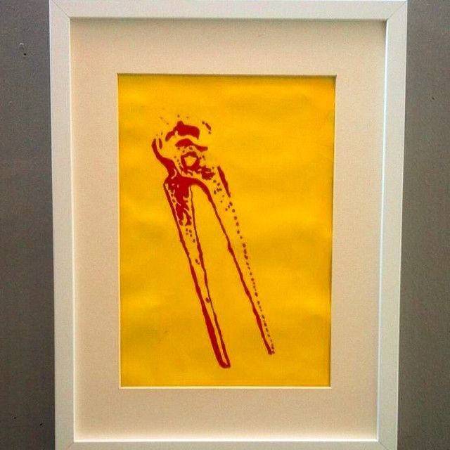 "Serie ""Werkzeugkiste 88 Teilig"" Titel ""Kneifzange "" © 58/2014 40x30cm Oil by Daniel Pultorak"