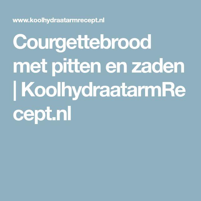 Courgettebrood met pitten en zaden | KoolhydraatarmRecept.nl