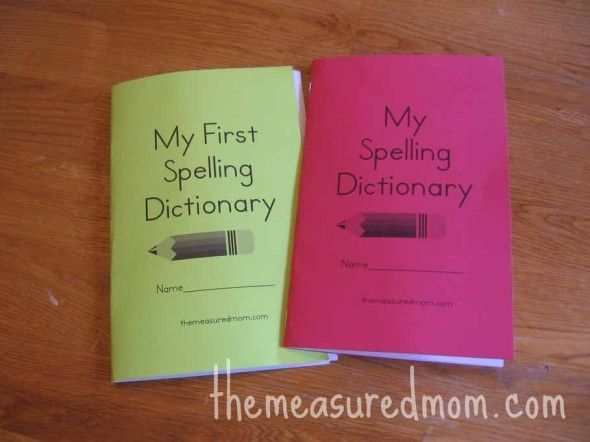 printable spelling dictionary 1 the measured mom063 590x442 Printable Spelling Dictionary for Kids