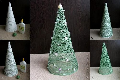 Green tread Xmas tree