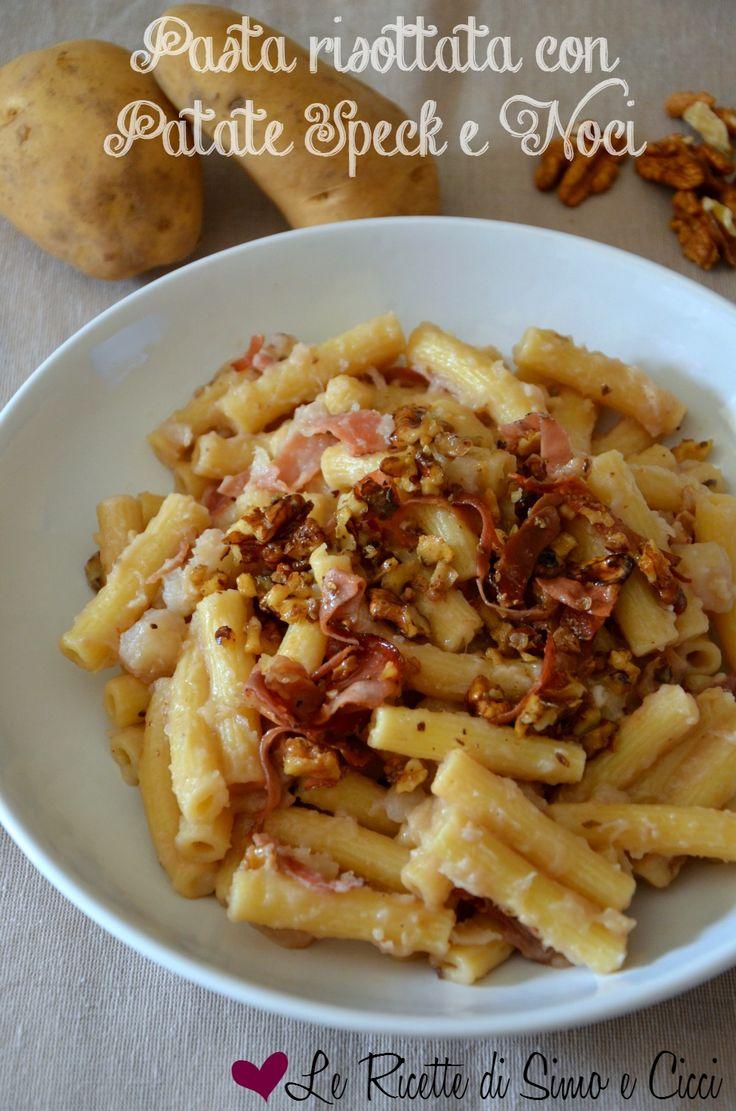 Pasta risottata con Patate Speck e Noci. Provala con #Andalinilatuapasta! www.andalini.com
