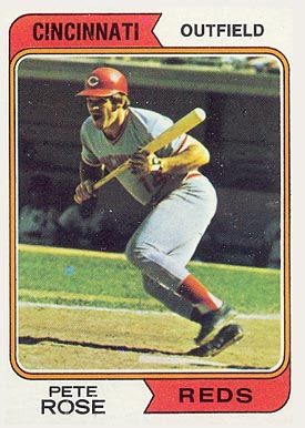 Pete+Rose+Baseball+Cards+Prices | 1974 Topps Pete Rose #300 Baseball Card Value Price Guide