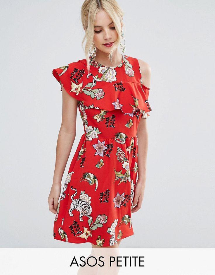 Red dress size 0 petite kimono