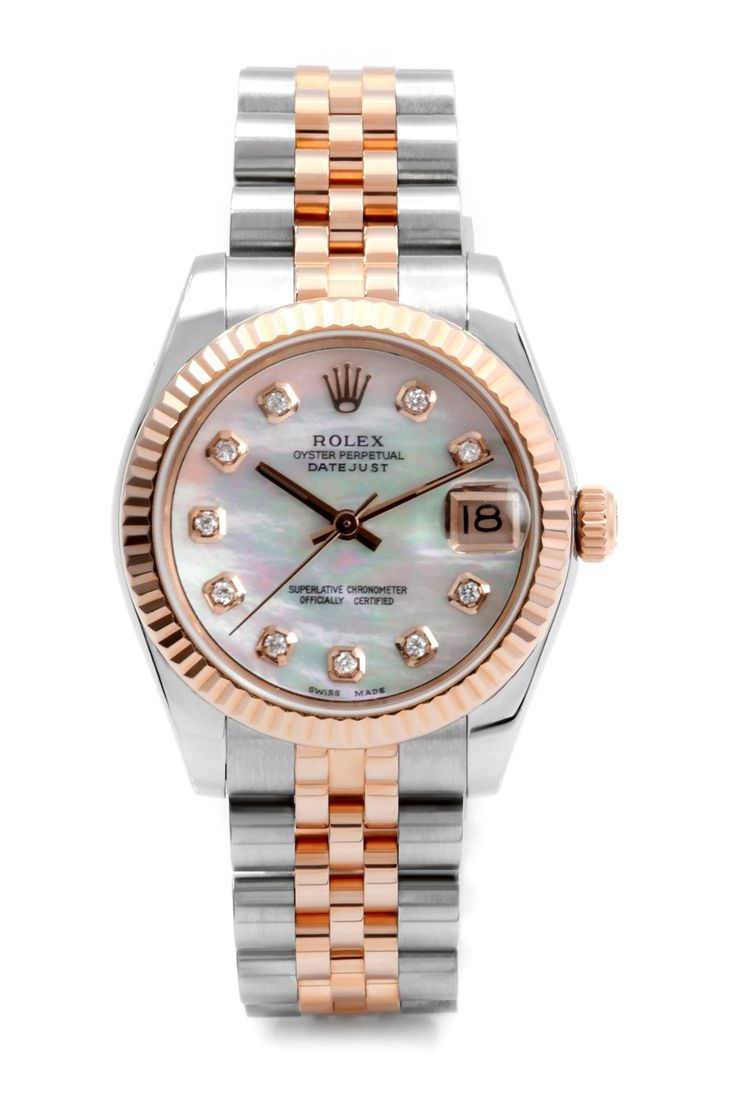 Vintage Rolex Women's 31mm Two-Tone Stainless Steel Diamond Midsize Datejust Quickset Watch on @HauteLook