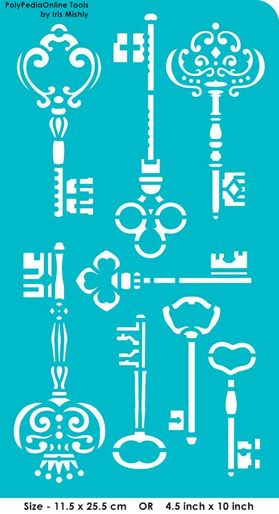 Stencil Stencils Templates Keys self-adhesive por irismishly